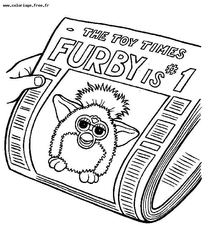 WWW.COLORIAGE.FREE.FR - Furby - Coloriages Disney, Cars, Dora