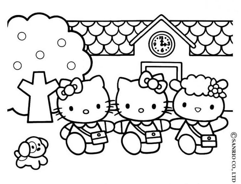 Hello Kitty4 Dibujo De Hello Kitty Para Imprimir Az Coloriage