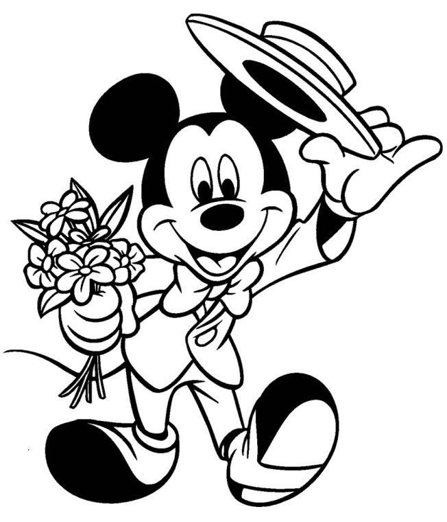coloriage mickey elegant(www.images-libres.net) - Images libres