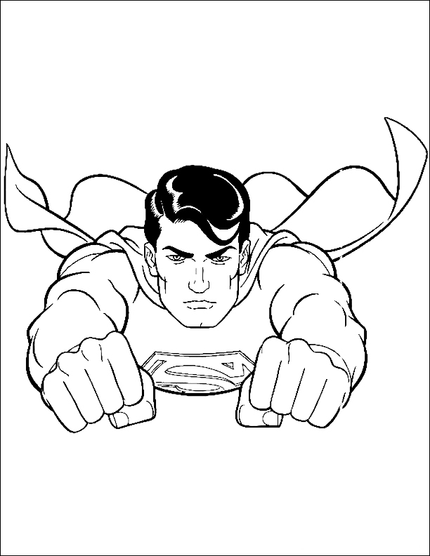 superman mask Colouring Pages