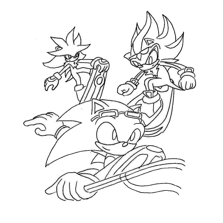 sonic chevalier Coloriage