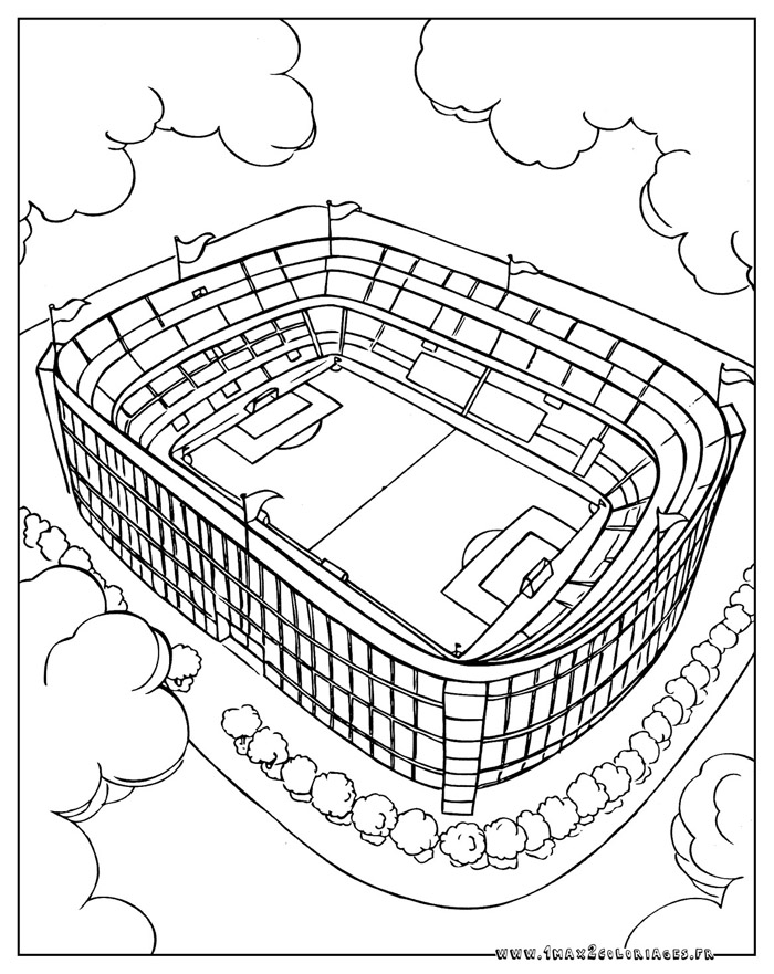Coloriages Football A Imprimer Et à Colorier Grand Stade