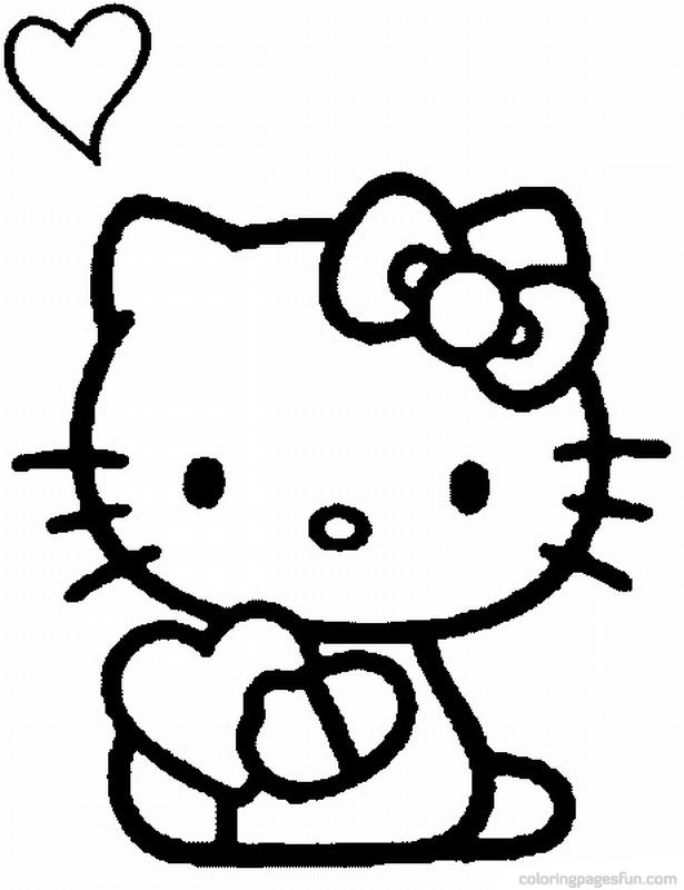 Hello Kitty Coloring Pages - Page 5 of 8 - Free Printable Coloring