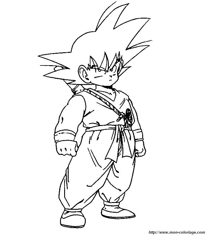 Coloriage de Manga Dragon Ball Z, dessin mon coloriage dbz à colorier