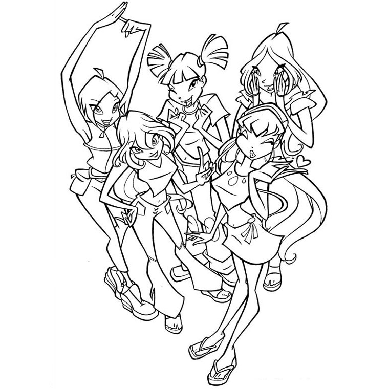 Winx Club Coloriage Enchantix Az Coloriage