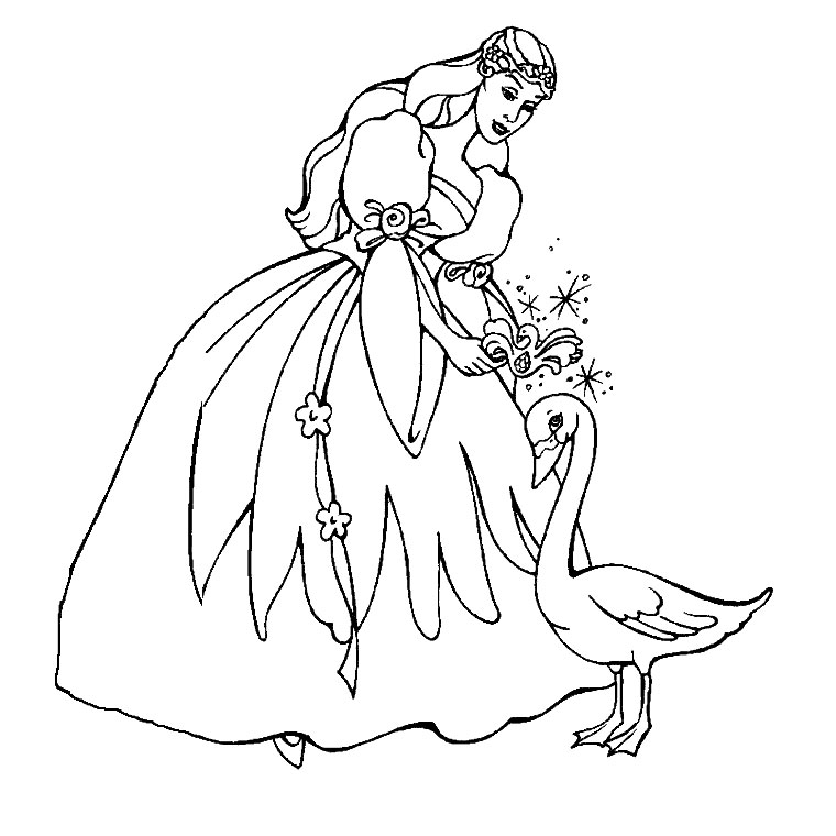 princesse du lac Coloriage