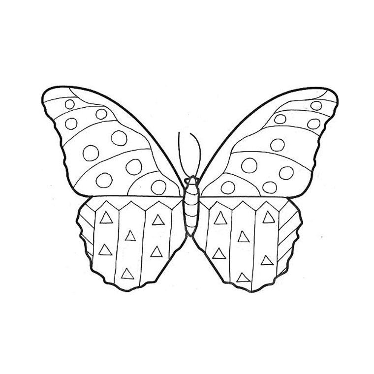 coloriage papillon maternelle a imprimer gratuit