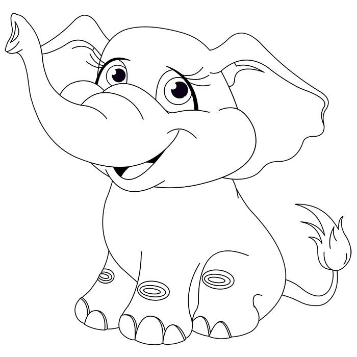 Coloriage De Elephant  AZ Coloriage