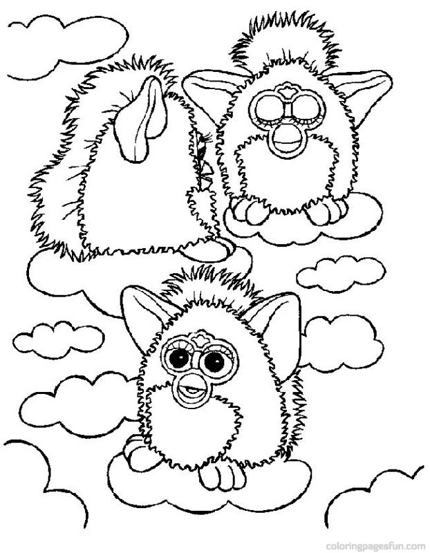 Furby Coloring Pages 17 - Free Printable Coloring Pages