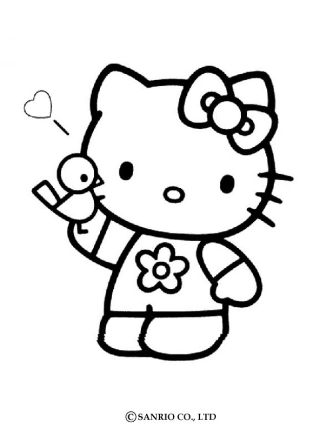 Coloriage HELLO KITTY - Coloriage de Hello Kitty