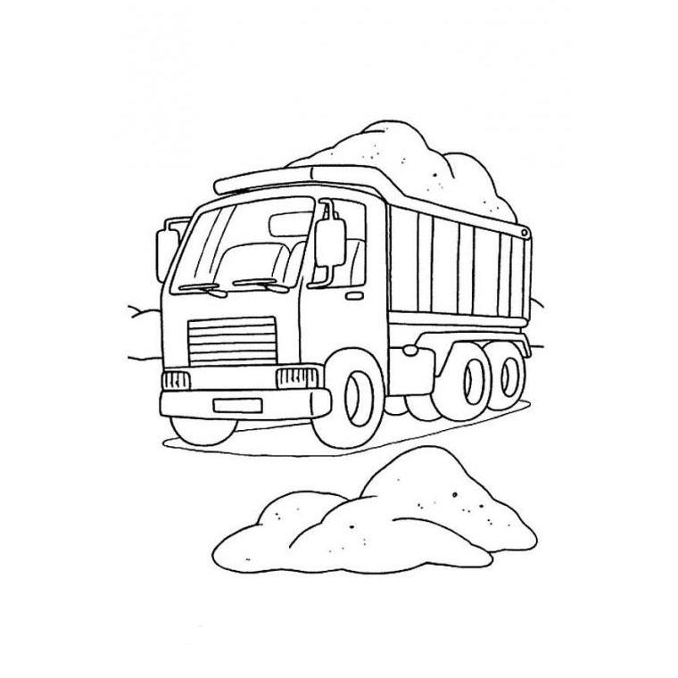 Coloriage Gratuit Camion Benne.Coloriage Camion Benne A Imprimer Gratuit Az Coloriage