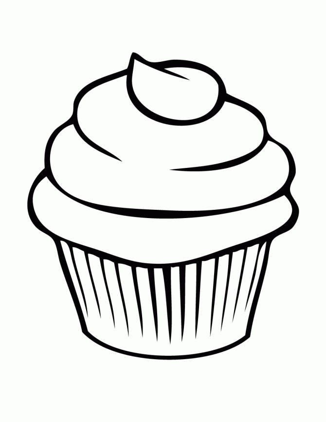 coloriage cup cake Coloriage