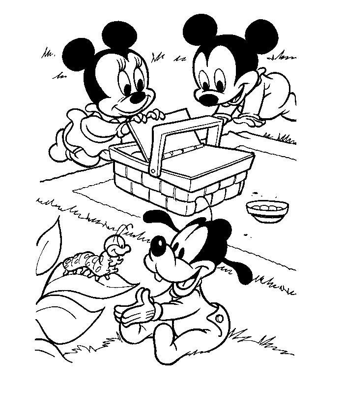 Disney Baby Mickey Az Coloriage