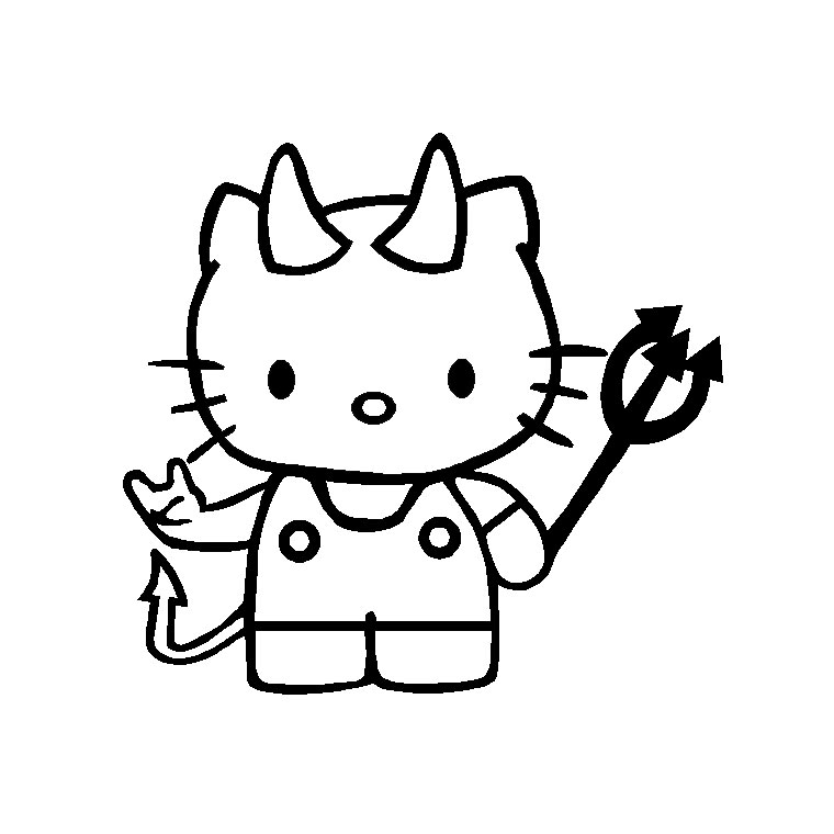 Comment Dessiner Hello Kitty Facilement #15: Hello Ketty Coloriage