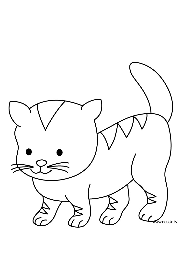 chatons trop mignion Coloriage