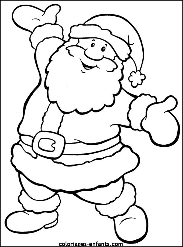 father christmas Coloriage