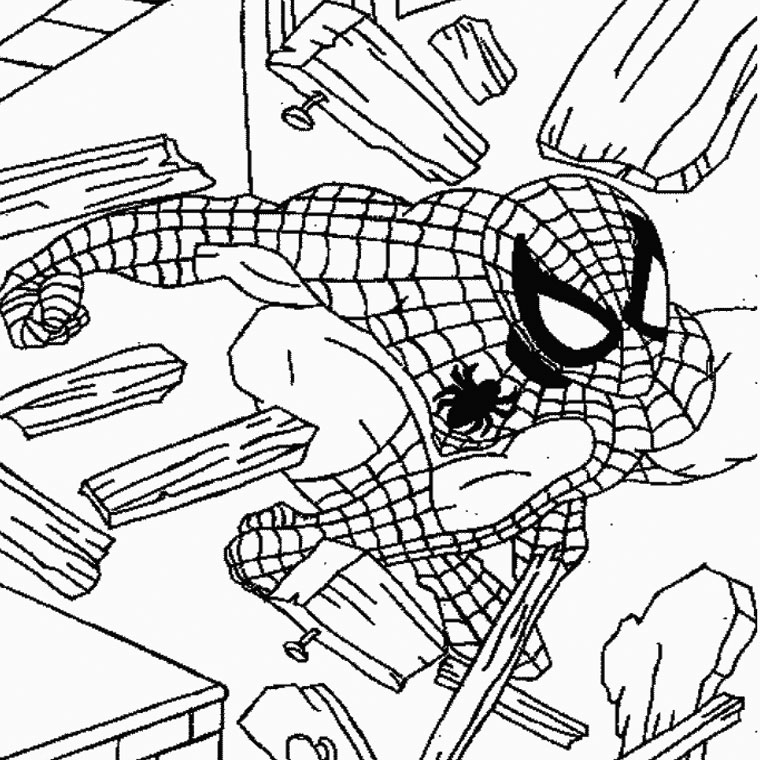 coloriage spiderman a imprimer Coloriage