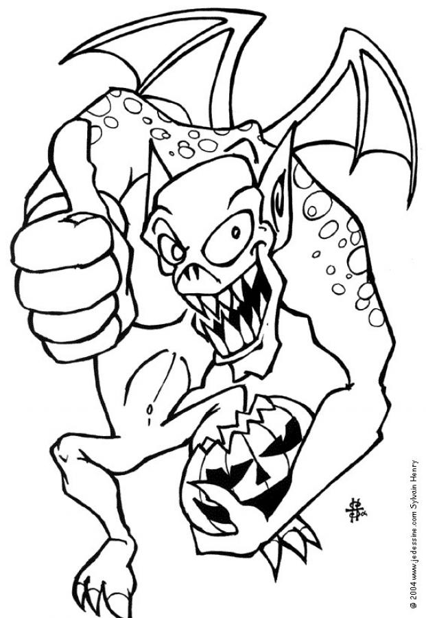 Coloriage MONSTRE HALLOWEEN - Coloriage d'un monstre d'Halloween