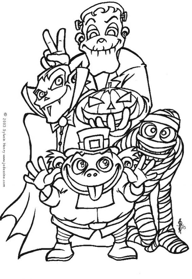 Coloriage MONSTRE HALLOWEEN - Coloriage de monstres d'halloween