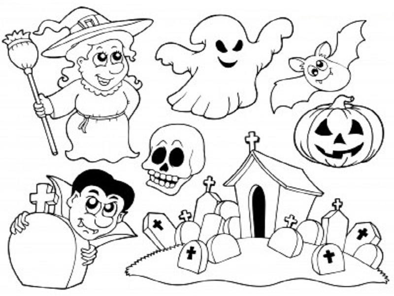 Imprimer Coloriages Halloween Dessin Lesgenissesdanslmais