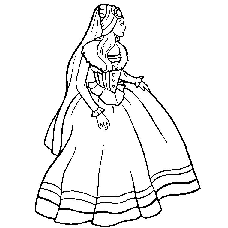 barbie princesse Coloriage