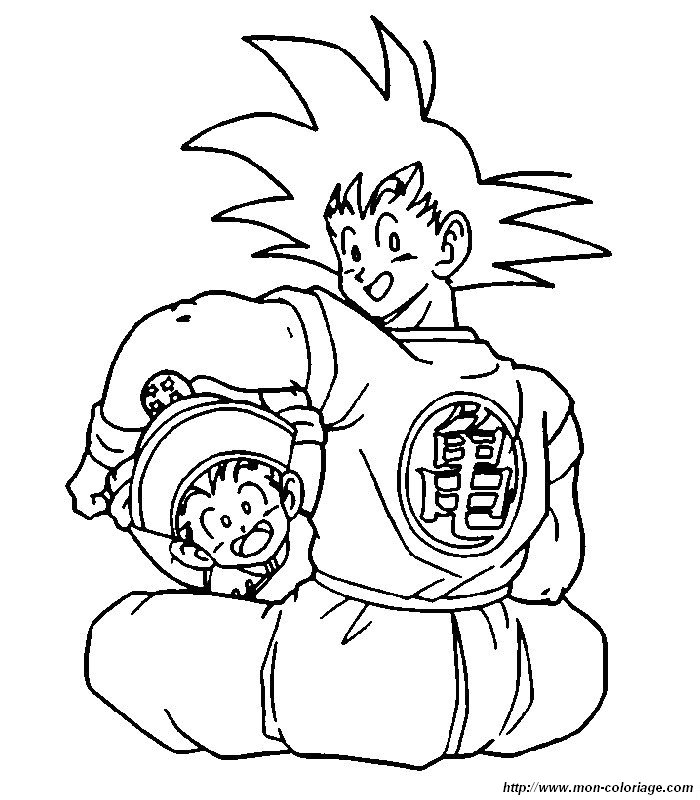 Coloriage A Imprimer Dragon Ball Z Sangoku 4 Car Pictures