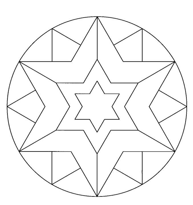 Mandala Etoile Coloriage Az Coloriage