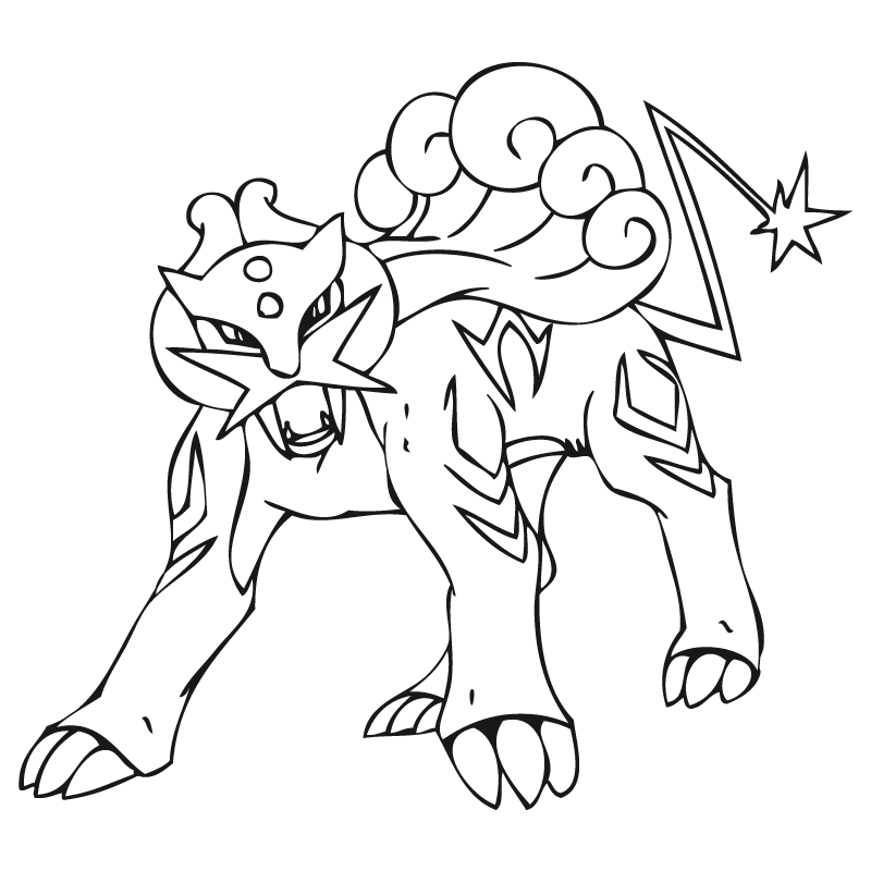 raikou coloring pages - photo#5