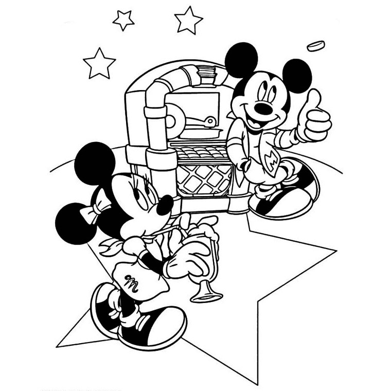 Pin Coloriage Joyeux Anniversaire Mickey Coloriages See It