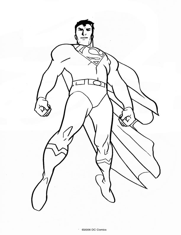 super héros coloriage