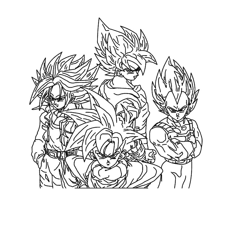 coloriage dragon ball z sangohan az coloriage
