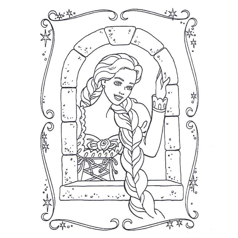 Coloriage Raiponce : coloriage.ploo.fr