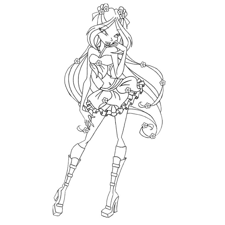 winx layla Coloriage