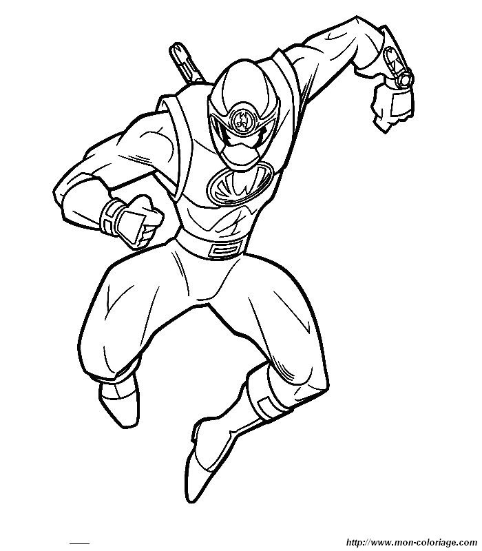 Coloriage de Power ranger, dessin 009 à colorier
