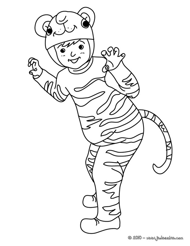 Coloriage CARNAVAL COSTUMES - Coloriage costume carnaval capitaine