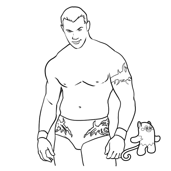 wwe coloring pages randy orton Coloring4free - Coloring4Free.com | 700x700