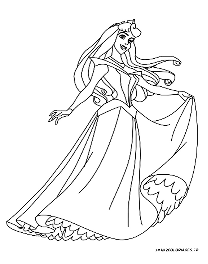 Coloriages de la belle au bois dormant de walt Disney - Princesse