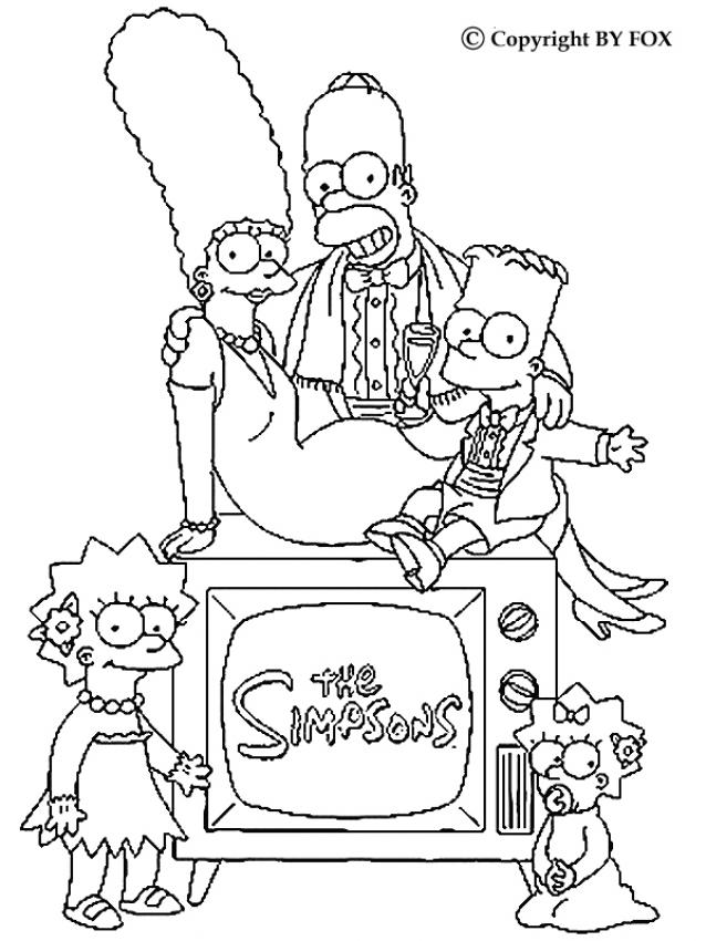 La famille Simpson - coloriage simpsons