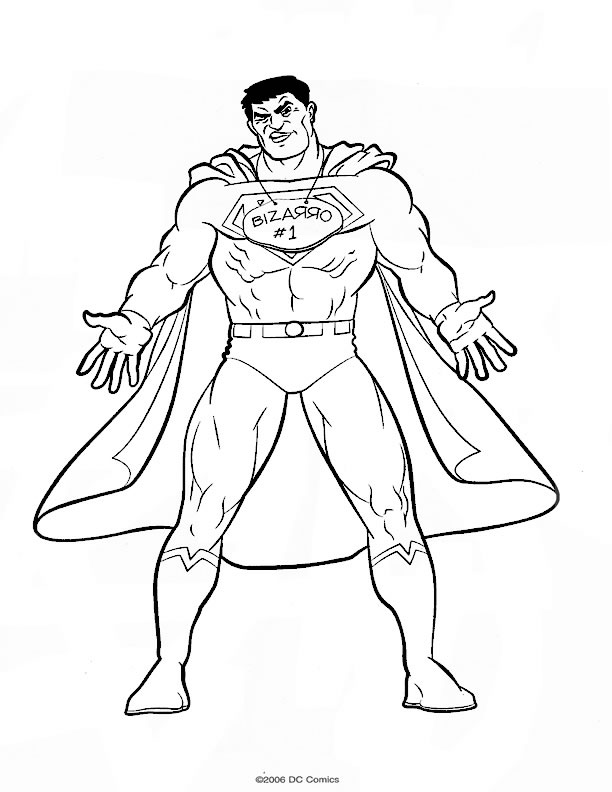 Coloriage Superman à colorier | Allofamille