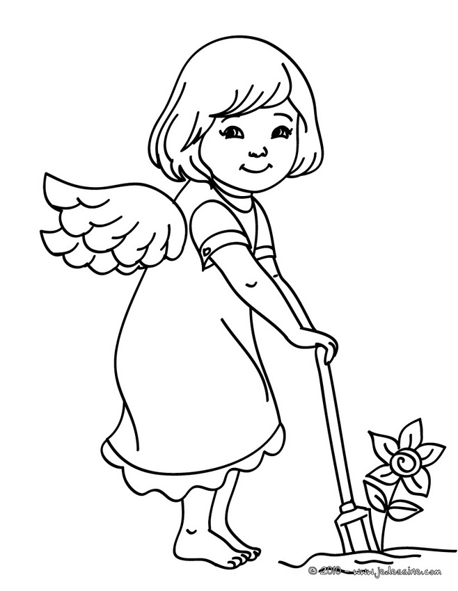 Coloriages Anges de Noël : 15 coloriages de Noël