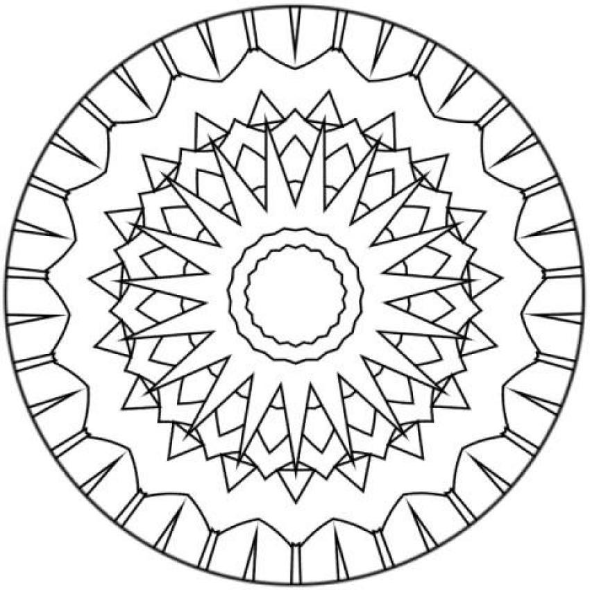 Coloriage De Mandala En Ligne Gratuit.Coloriage Mandala 232 Coloriages En Ligne Gratuit Pour Les