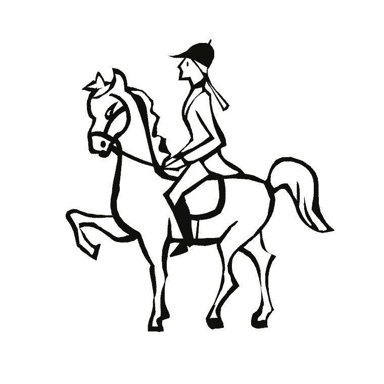 coloriage grand galop lisa a imprimer gratuit