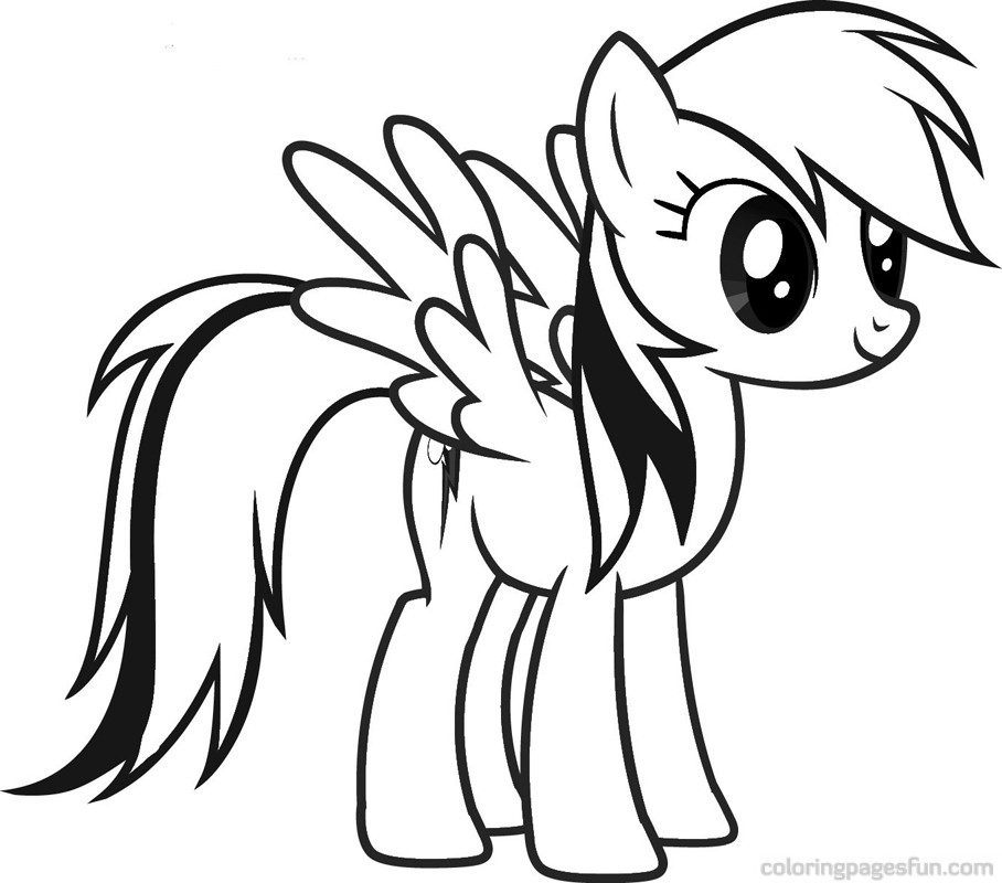 pony colour pages Colouring Pages (page 2)
