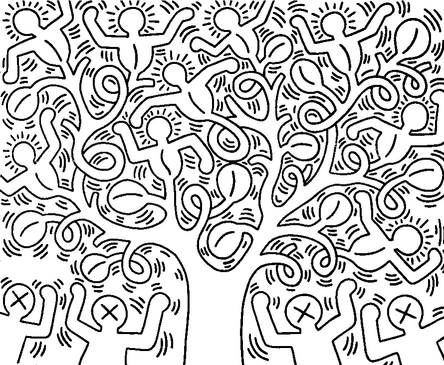 coloriages keith haring Coloriage