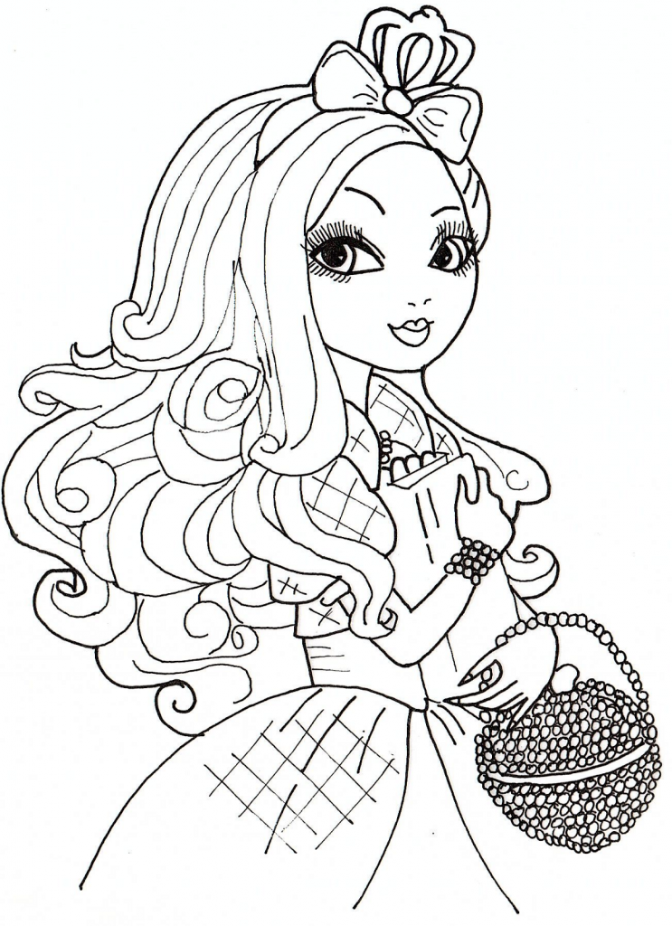ever high coloriage - Coloriage Top Model