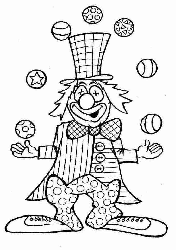 Graphisme en maternelle : colorier le clown