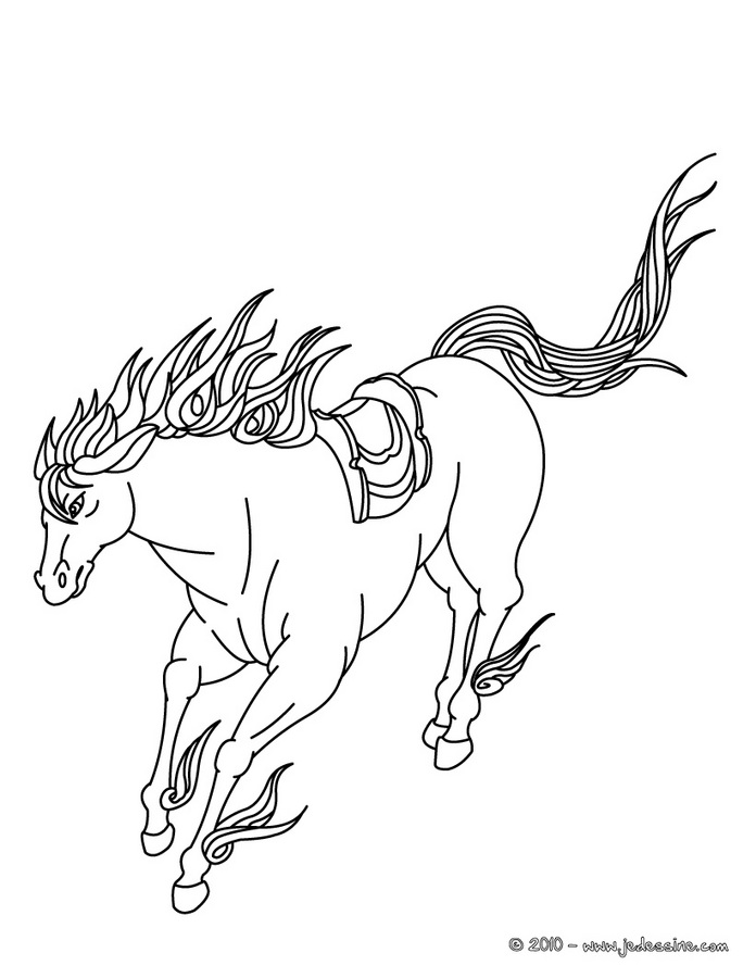 Coloriage Cheval Le Ranch.Coloriage Cheval Sauvage Az Coloriage