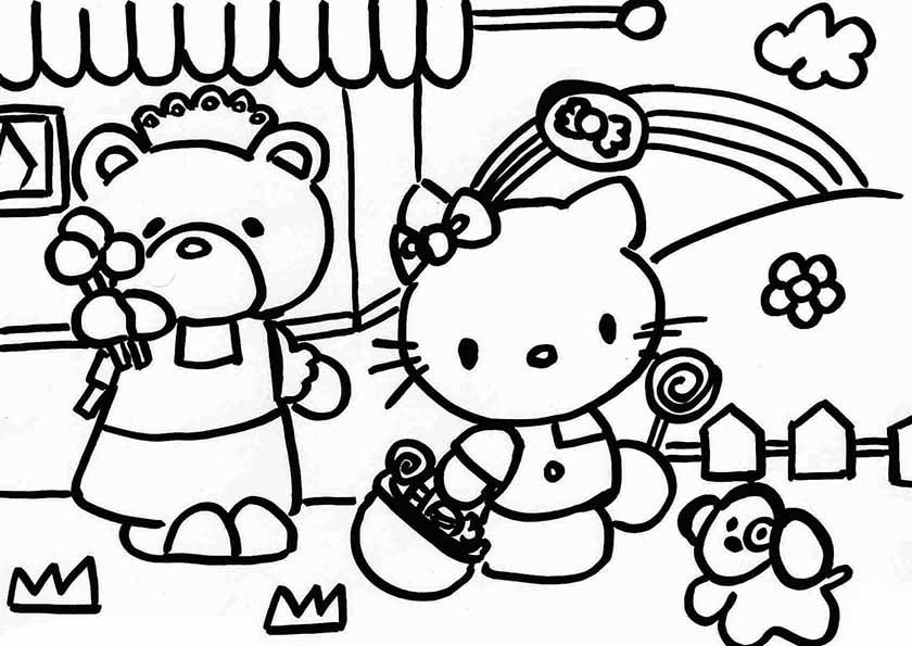 Mandala Hello Kitty. Malvorlagen Hello Kitty Und Malvorlagen. Best ...