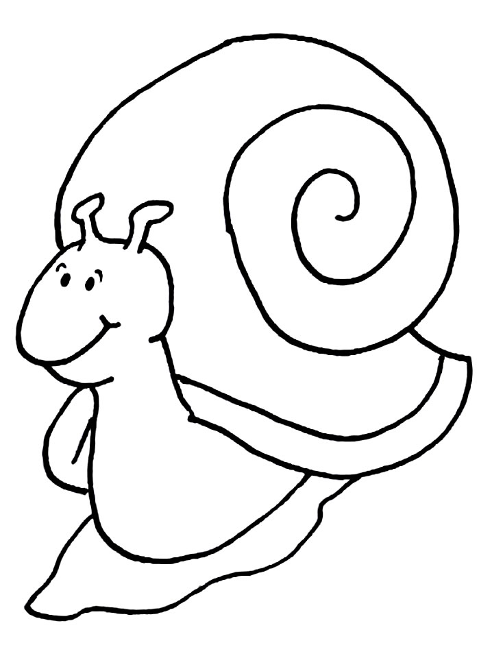 Coloriage Escargots à colorier | Allofamille