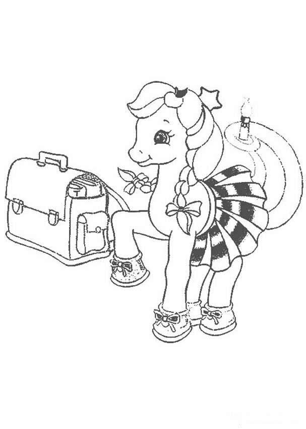 MY LITTLE PONY coloring pages - My Little Pony running on the beach